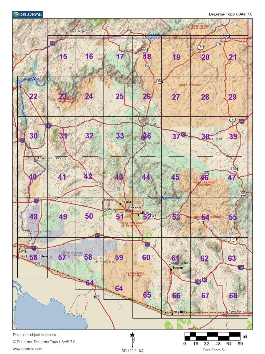 GC1AHJN Arizona DeLorme Challenge (Unknown Cache) in Arizona, United on
